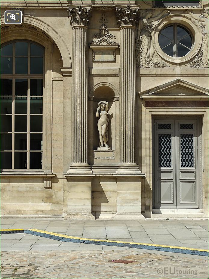 South Facade Aile Nord Marble Statue Bethsabee
