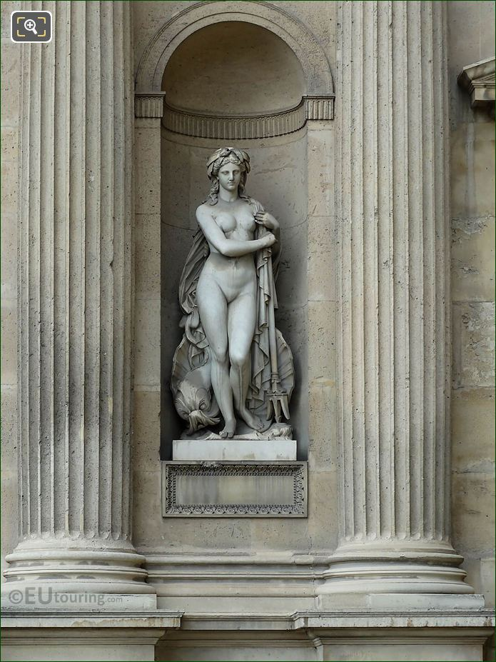 Amphitrite Statue Aile Nord Musee Du Louvre