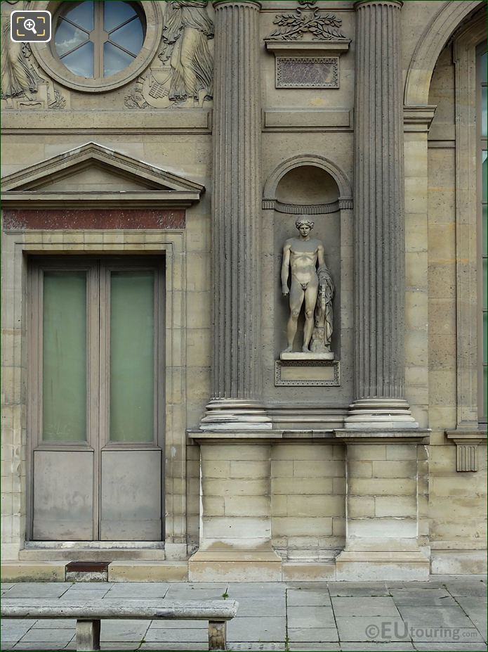 West Facade Aile Est With Orphee Statue