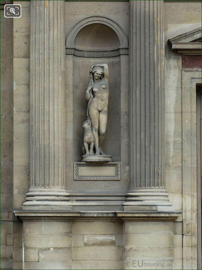 Bacchante Statue Aile Est Musee Du Louvre