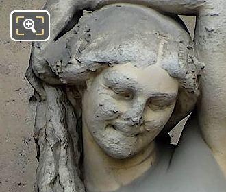 Marble Bacchante Statue By Jean Auguste Barre