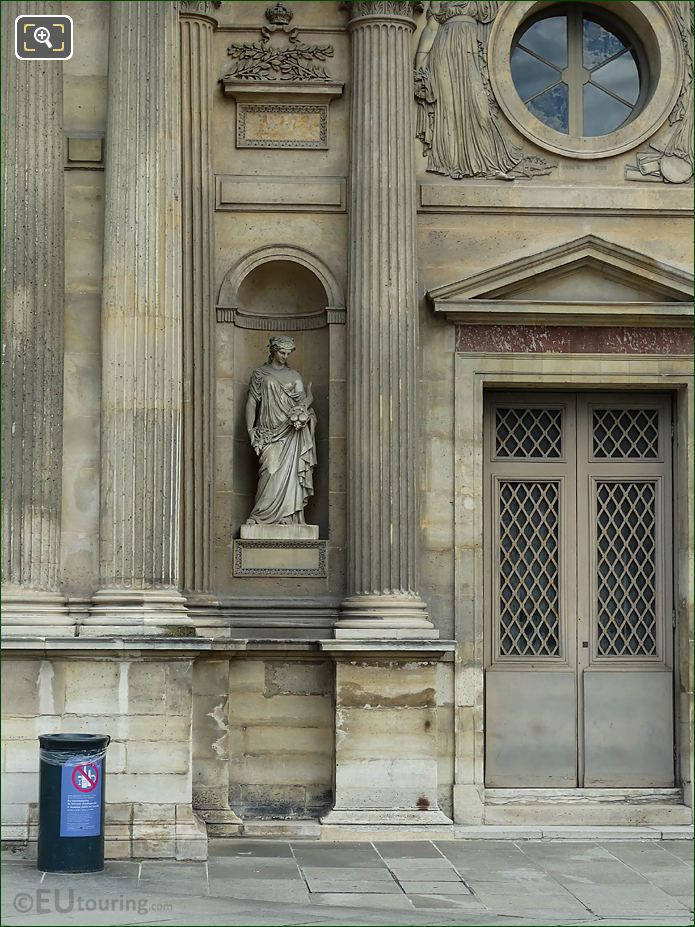 South Facade Aile Est With Abondance Statue
