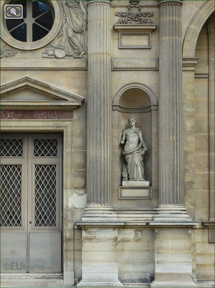 West Facade Aile Est Marble God Of Music Statue