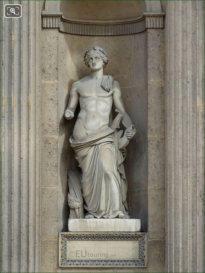 God Of Music Statue Aile Est Musee Du Louvre