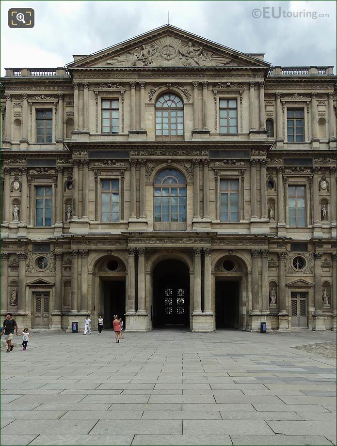 West Facade Aile Est Musee Du Louvre