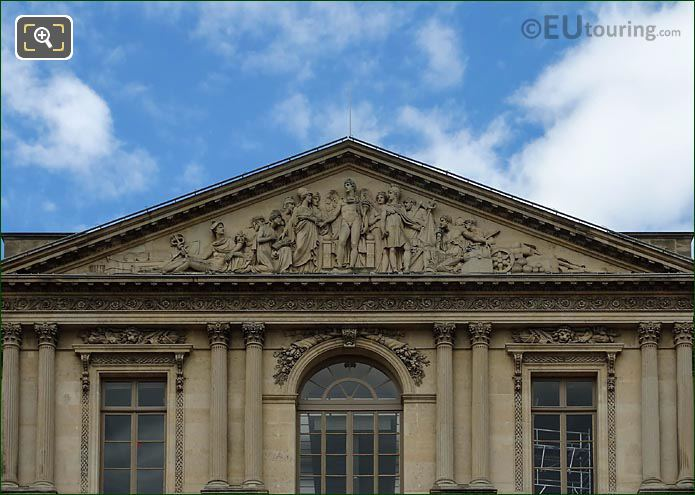 Pediment Genius Of France Sculpture Aile Nord