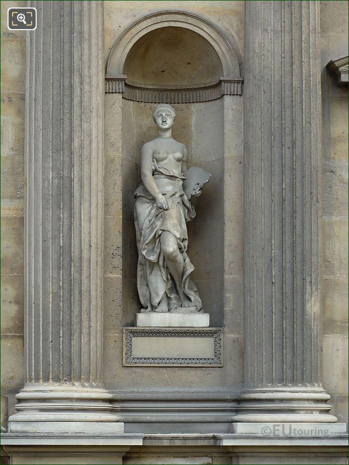 Marble La Peinture Statue Aile Est Musee Du Louvre