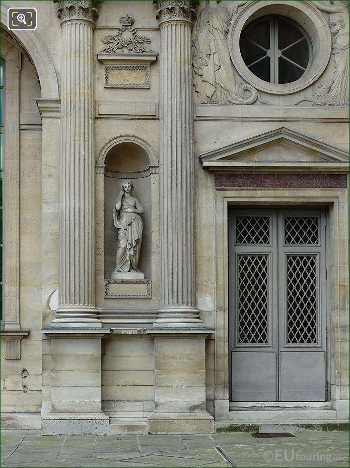 West Facade Aile Est Marble Statue Modestie