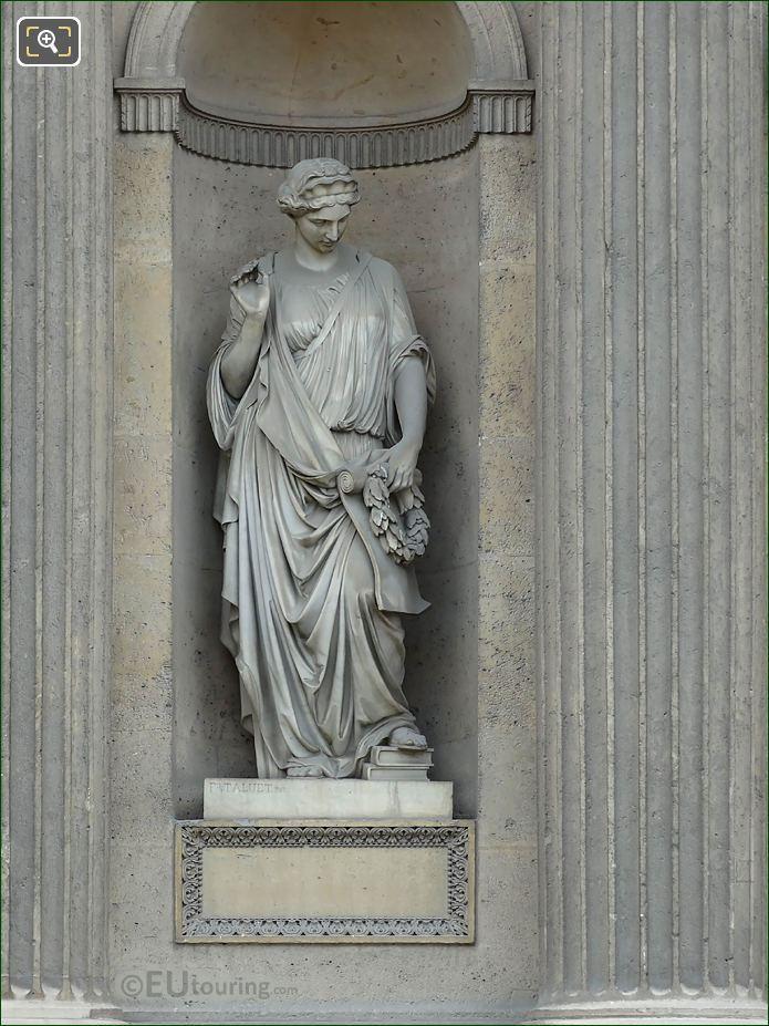 Reconnaissance Statue Aile Sud Musee Du Louvre