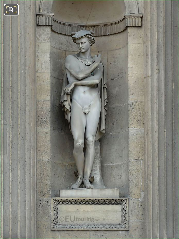 Marble Mercure Statue Aile Sud Musee Du Louvre