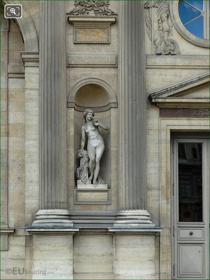 North Facade Aile Sud Marble Bacchante Statue