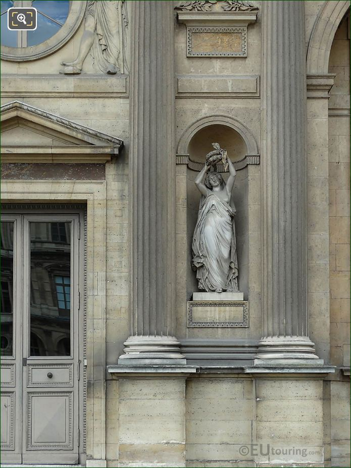 North Facade Aile Sud With Gloire Statue