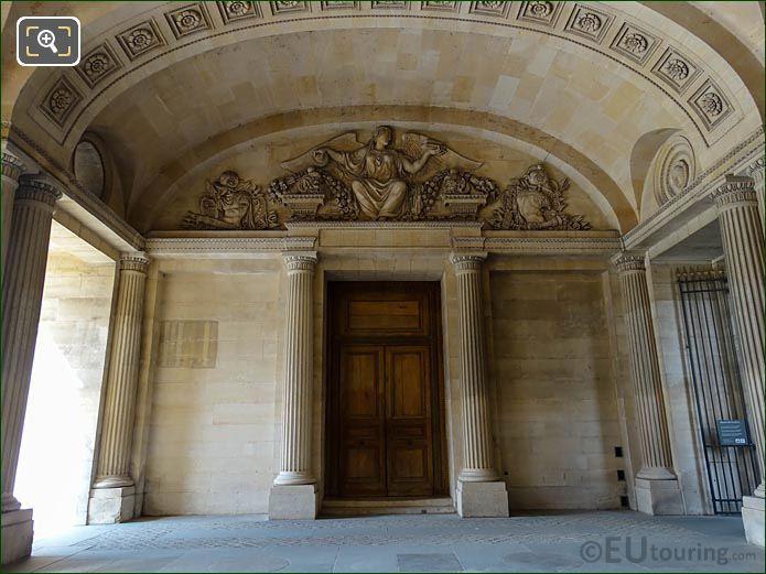 Sculpture La Piete Above Doorway Aile Est