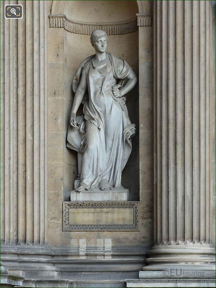 Architecture Statue Aile Lescot Musee Du Louvre