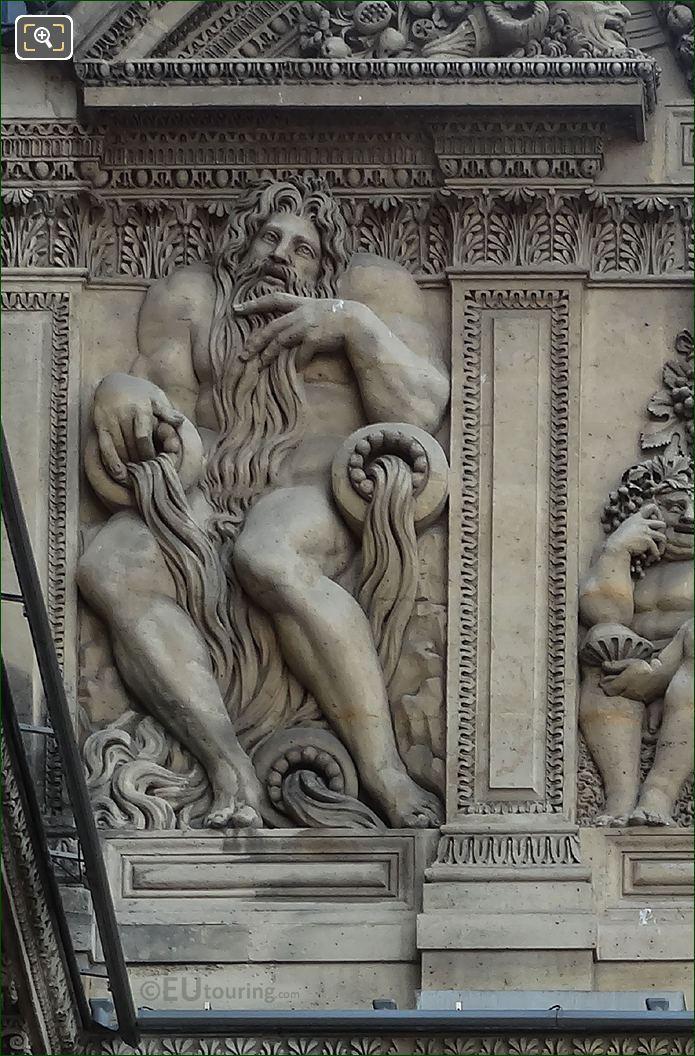 Neptune Sculpture By Jean Goujon