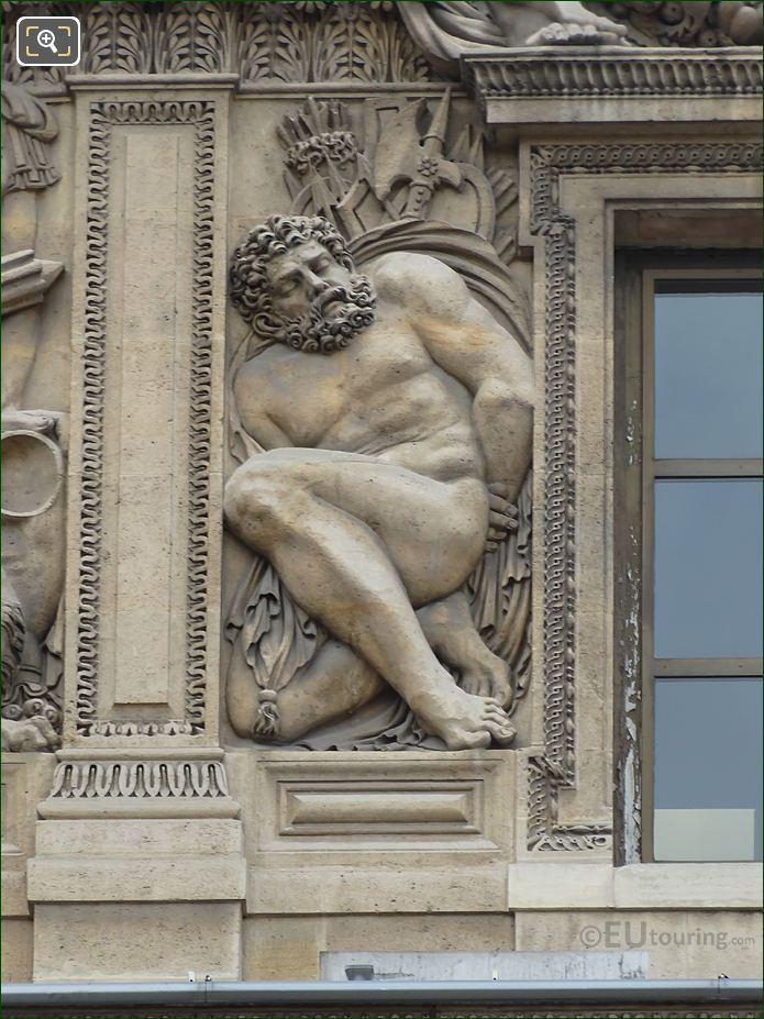 Prisonnier Sculpture Aile Lescot Musee Louvre