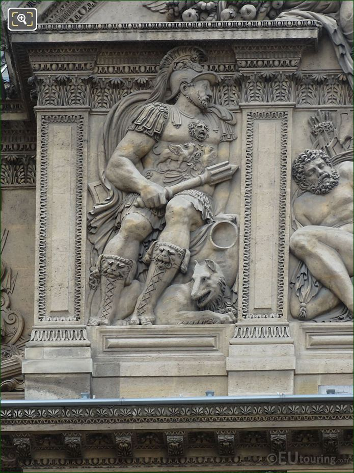 God Of War Sculpture Mars Aile Lescot Musee Louvre