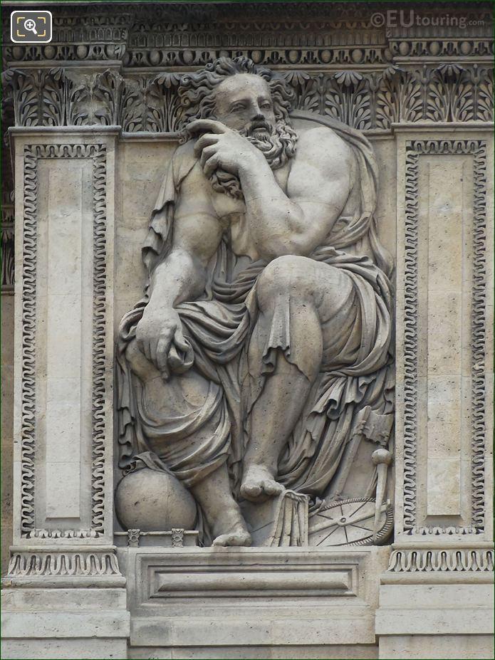 Archimedes Sculpture Aile Lescot Musee Louvre