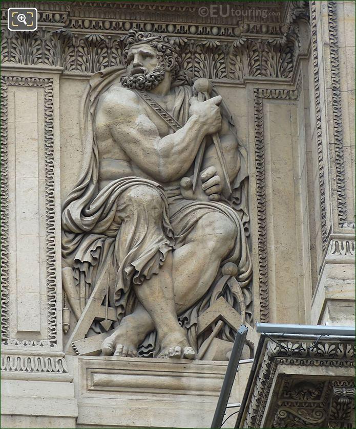 Euclide Sculpture Aile Lescot Musee Du Louvre