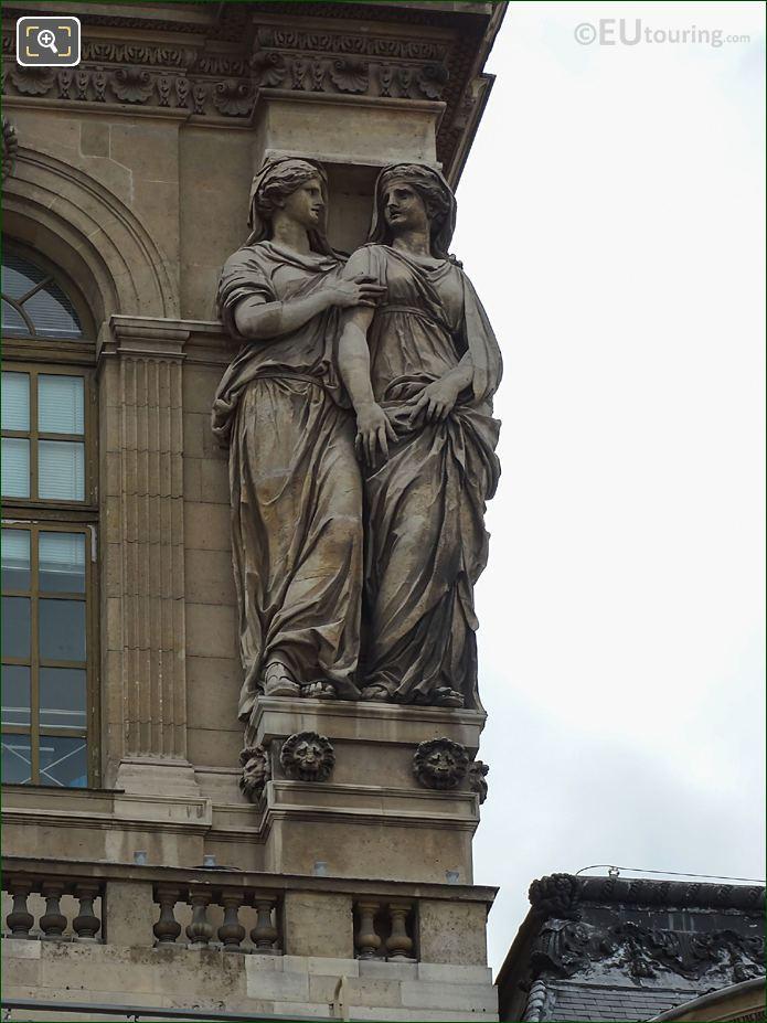 4th From LHS Caryatid Sculptures Pavillon De l'Horloge