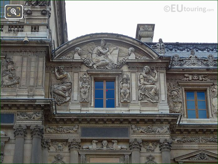 East Facade Aile With La Loi, Thucydide Et d'Herodote