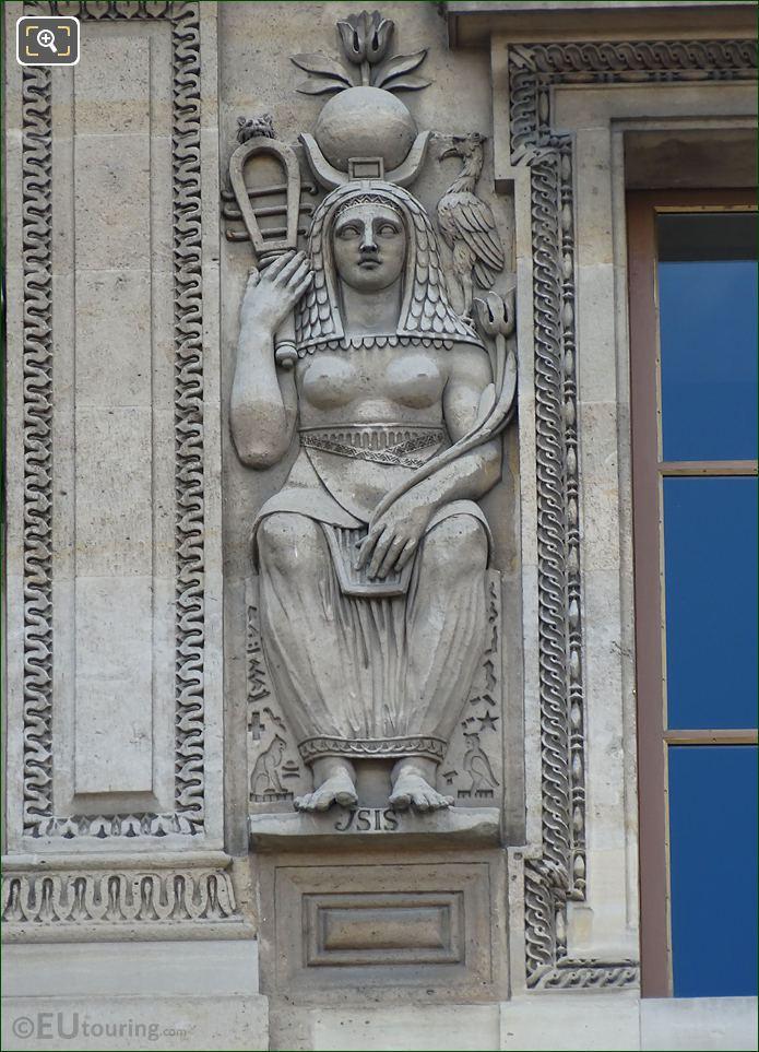Egylptian Goddess Isis Sculpture By Jean Moitte