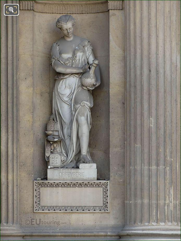L'Orfevrerie Statue Aile Lemercier Musee Du Louvre