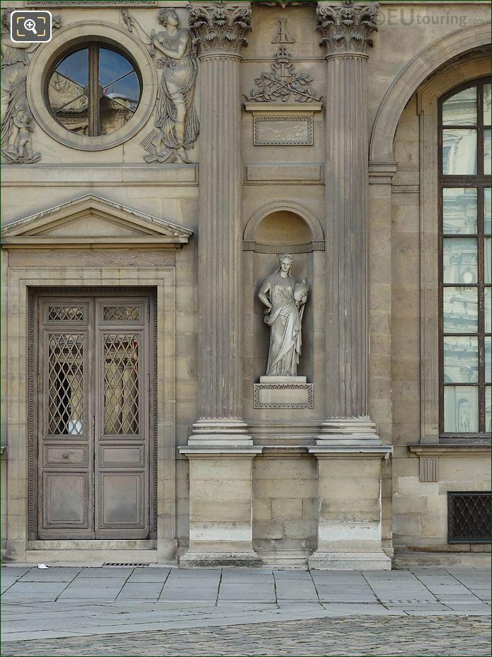 East Facade Aile Lemercier La Ceramique Statue