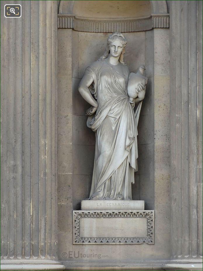 La Ceramique Statue Aile Lemercier Musee Du Louvre