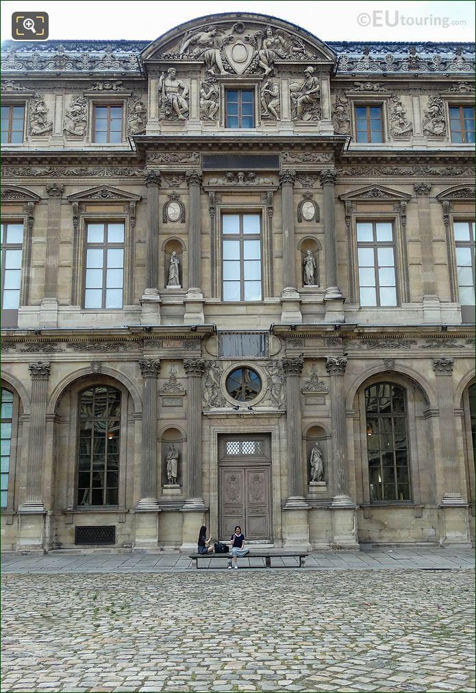 East Facade Aile Lemercier Victoire Et Abondance Sculpture