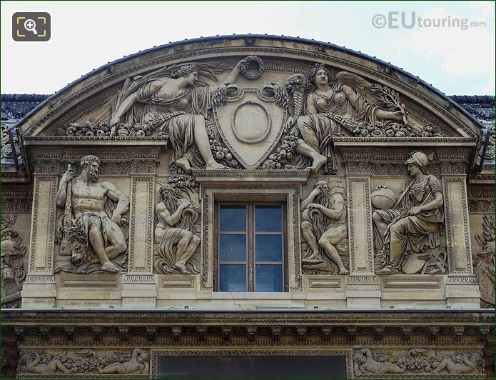 Pediment Sculpture Victoire Et Abondance Aile Lemercier