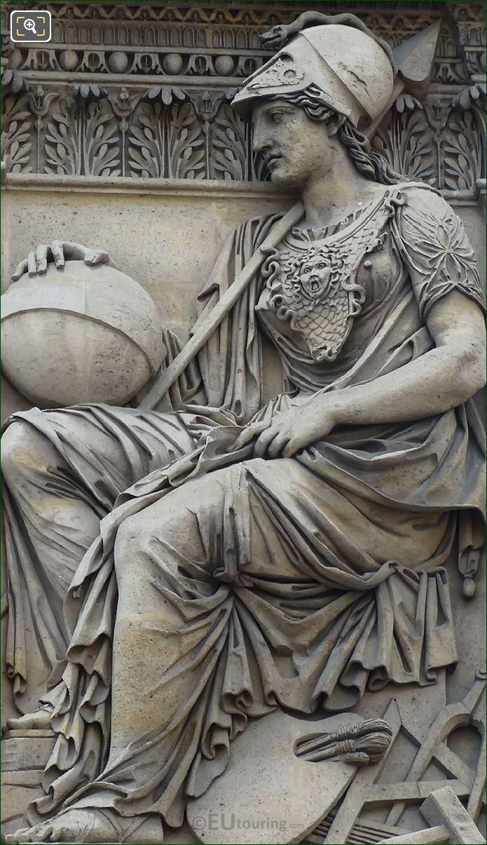 Roman Goddess Of Wisdom Minerva Statue By Sculptor Philippe Laurent Roland