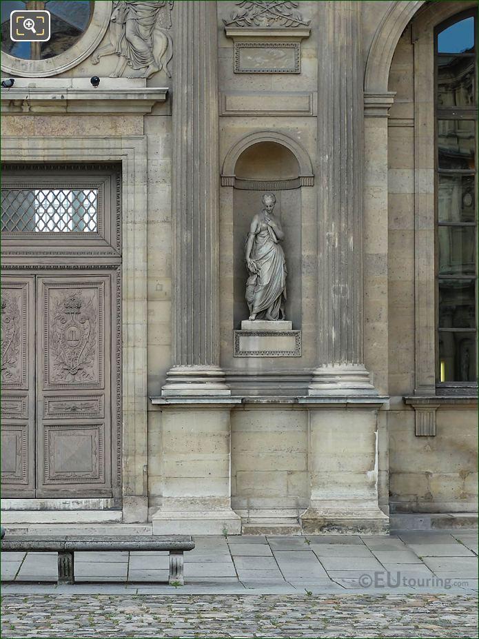 East Facade Aile Lemercier La Douceur Statue