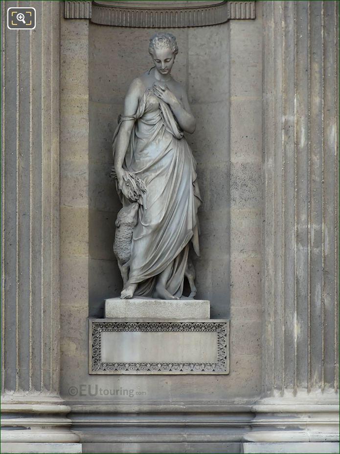 La Douceur Statue Aile Lemercier Musee Du Louvre