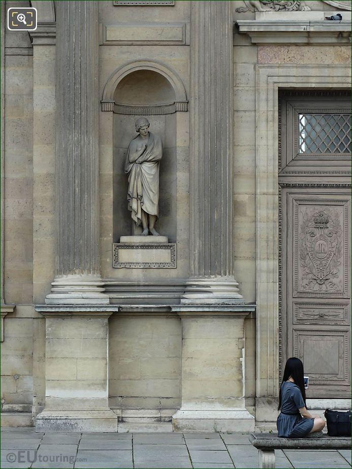 East Facade Aile Lemercier Aristarque Statue
