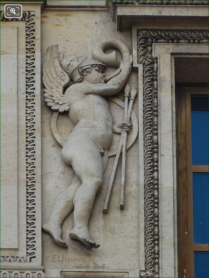 Guerre Sculpture On Aile Lemercier At Musee Du Louvre