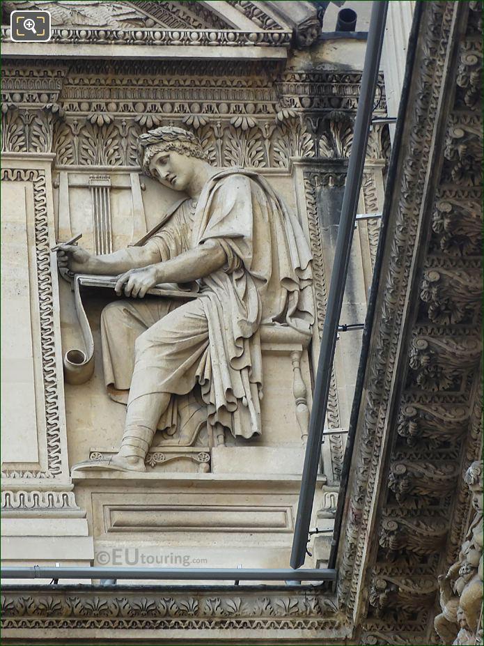Virgile Sculpture Aile Lemercier Musee Du Louvre