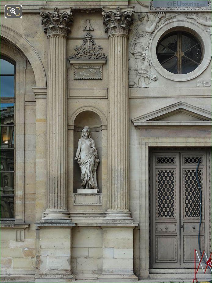 East Facade Aile Lemercier With Cleopatre Statue