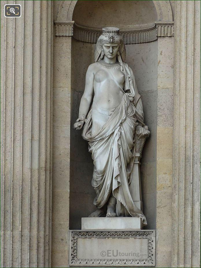 Marble Cleopatra Statue Aile Lemercier Musee Du Louvre