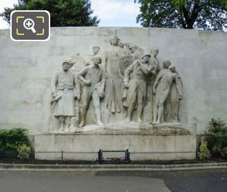Panoramic Of World War I Monument At Place Du Trocadero
