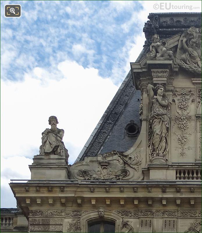 Pavillon Turgot Top Facade With Le Calme Statue