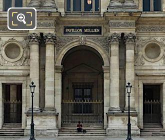 West Facade Pavillon Mollien L'Astronomie Et La Geometrie