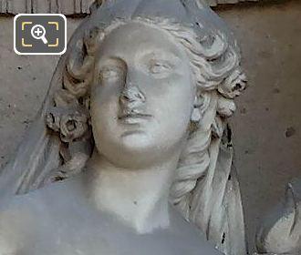 Marble Aurore Statue By Nicolas Victor Vilain