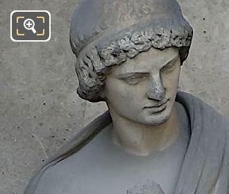 Marble Aristarque Statue By Georges Diebolt
