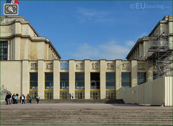Palais Chaillot Lower Facade With Bas Relief Sculptures