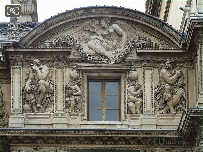 Aile Lescot 3rd Floor With Genie De l'etude Ecrivant Sculpture