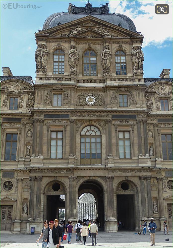 East Facade Of Pavillon De l'Horloge At Musee Du Louvre