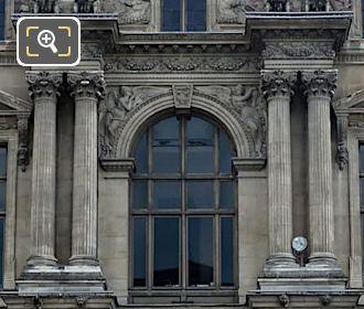 La Geometrie Et l'Astronomie Sculpture On Pavillon Mollien At Musee Louvre