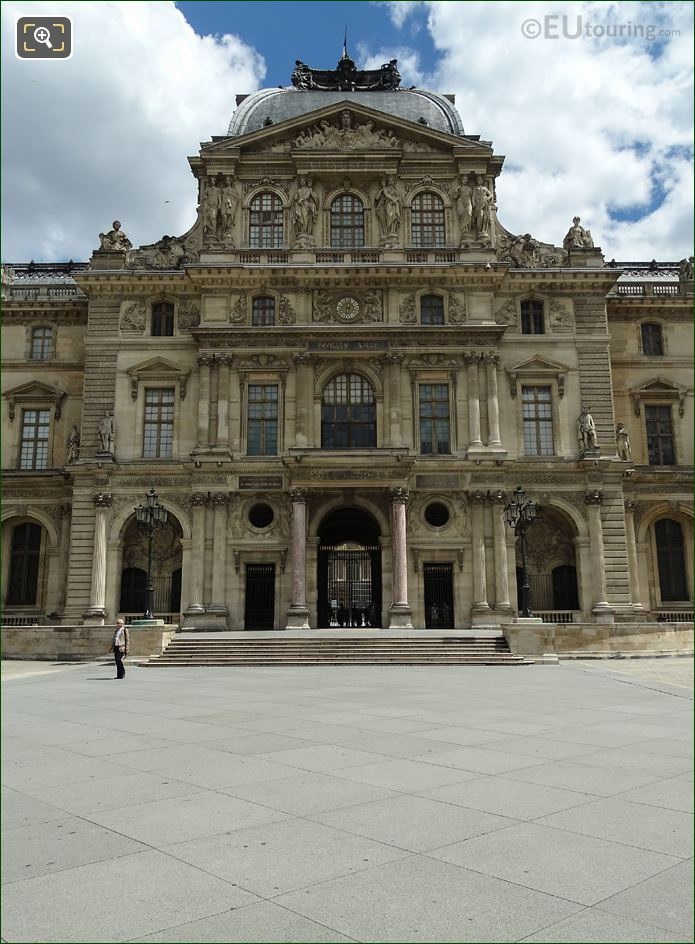 West Facade Of Pavillon Sully At Musee Du Louvre