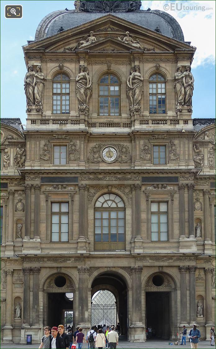 East Facade Of Pavillon De l'Horloge With Caryatid Sculptures